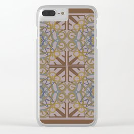 Gender Equality Tiled - Brown Olive Clear iPhone Case