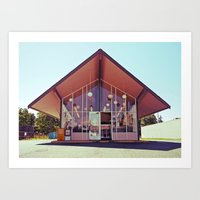 mid century Art Prints featuring Mid-Century Americana by Vorona Photography