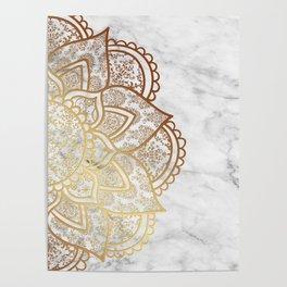 Mandala - Gold & Marble Poster