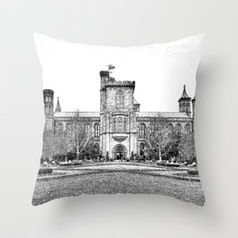The Castle in Early Spring. Throw Pillow