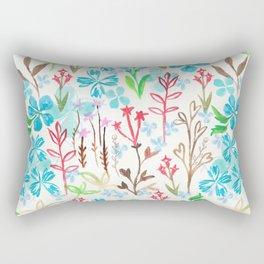 Azure flower garden Rectangular Pillow