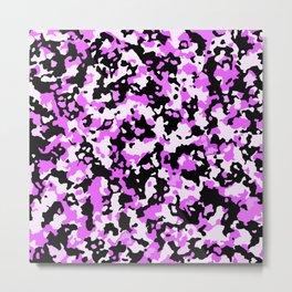 Glamorous camouflage pink, black pattern Metal Print