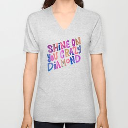 Shine On Your Crazy Diamond – Vintage Palette Unisex V-Neck