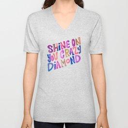Shine On Your Crazy Diamond – Vintage Palette Unisex V-Neck