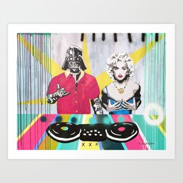 Music Rave Fun Art Print