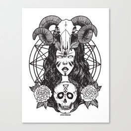 Satanic Princess Canvas Print