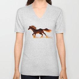 Fire Trail Horse Unisex V-Neck