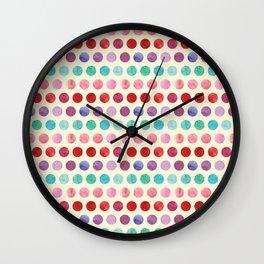 Watercolor Circles Pattern Wall Clock