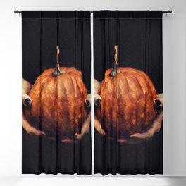 Girl Holding A Pumpkin 2 Blackout Curtain