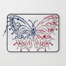 American Patriotic Colors Butterfly  Laptop Sleeve