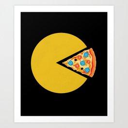 Pizza-Man Art Print