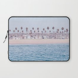 Vintage Newport Beach Print {3 of 4} | Photography Ocean Palm Trees Cool Blue Tropical Summer Sky Laptop Sleeve