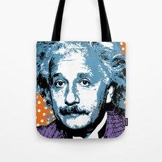 Blue Einstein Tote Bag