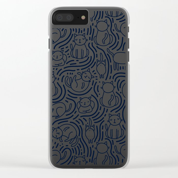 Bright cats Clear iPhone Case