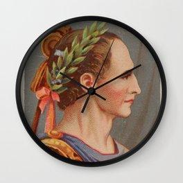 Vintage Julius Caesar Illustration (1888) Wall Clock