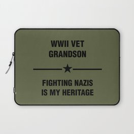 WWII Grandson Heritage Laptop Sleeve