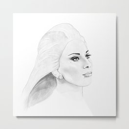 Mother Monster Square Metal Print