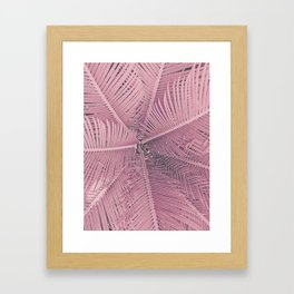 Pink Palm Leaves Framed Art Print