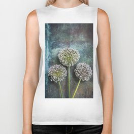 Three Allium Flowers Biker Tank