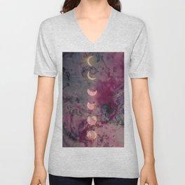 Lunar phase color Unisex V-Neck