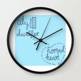 City Dweller / Nomad Heart Wall Clock