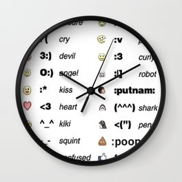 Emoji's for fun Fashion! Wall Clock