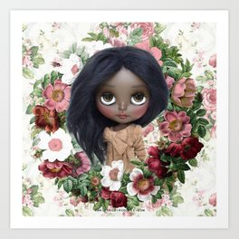 ERREGIRO JANET FLOWER CROWN Art Print