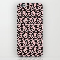 Olympica Black on Blush iPhone Skin