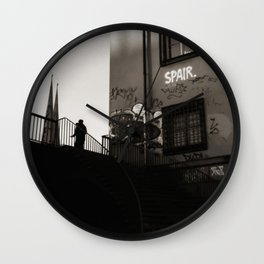 The loner stroll Wall Clock