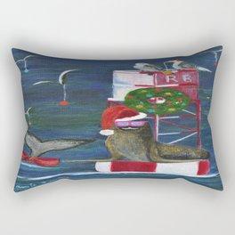 Christmas Seal and Friends Rectangular Pillow
