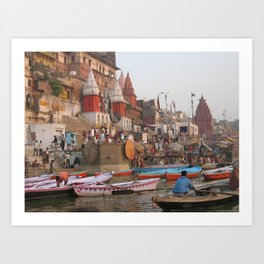 The Sacred Ganges River in India (2004e) Art Print