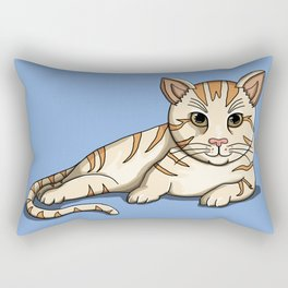 Lazy kitty Rectangular Pillow