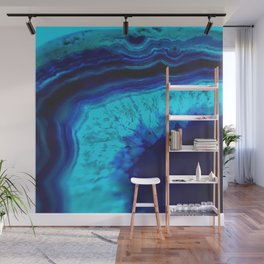 Royal Blue Turquoise Agate Wall Mural