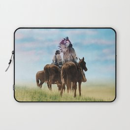 Cheyenne Warriors on the Great Plains - American Indians Laptop Sleeve