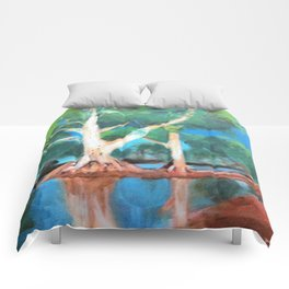 Riverbank Trees Comforters