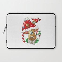 Mushroom gingerbread house Laptop Sleeve