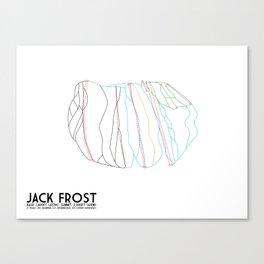 Jack Frost Ski Resort, PA - Minimalist Trail Maps Canvas Print