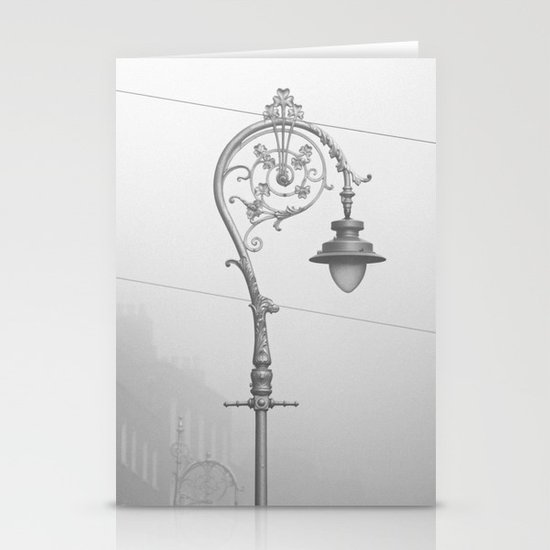 Dublin street lamp in the fog Stationery Cards