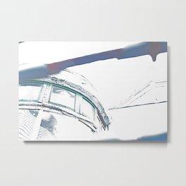 Sunlit Abandoned Metal Print