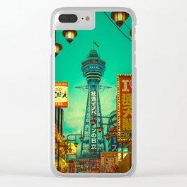 Osaka Nights - Shinsekai, New World / Liam Wong Clear iPhone Case