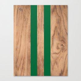 Wood Grain Stripes - Green #319 Canvas Print