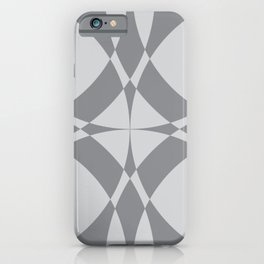 Abstract Circles - Gray iPhone Case