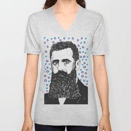 Theodor Herzl Unisex V-Neck
