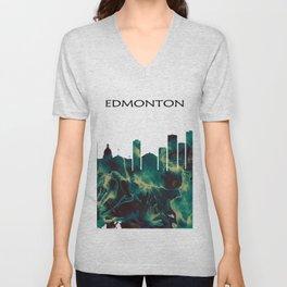 Edmonton Skyline Unisex V-Neck