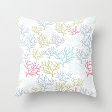 Pink Corals Throw Pillow