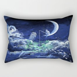 The Doctor Dreaming Of Fishing Rectangular Pillow