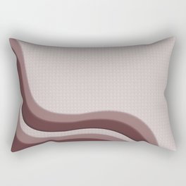 Pantone Red Pear Soothing Waves with Canvas Texture Rectangular Pillow