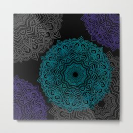 My Spirit Mandhala | Secret Geometry Metal Print