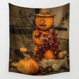 Halloween-pumkin Wall Tapestry