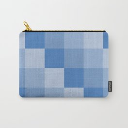 Four Shades of Blue Square Carry-All Pouch